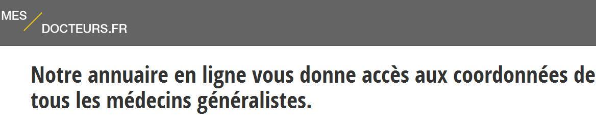 Mes-docteurs.fr est un annuaire online dédié en long et en large à la médecine générale